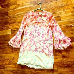 NWT Max Studio Floral Ruffle Dress